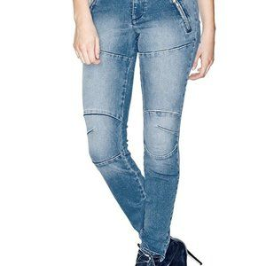 Women's Athletic Skinny Jeggings,Blue Truth Wash